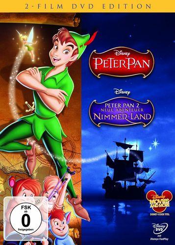 DVD Walt Disney 2er Box - Peter Pan 1 + Peter Pan 2 Neue Abenteuer in Nimmerland  FSK 0  NEU & OVP