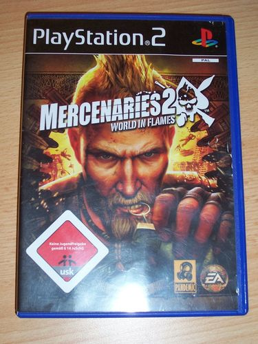 PlayStation 2 PS2 Spiel - Mercenaries 2 - World in Flames  USK 18 komplett + Anleitung gebr.