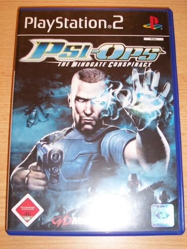 PlayStation 2 PS2 Spiel - Psi-Ops - The Mindgate Conspiracy  USK 18 komplett + Anleitung gebr.
