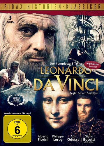 DVD Pidax Historien-Klassiker  Leonardo da Vinci - der komplette 5-Teiler 3er Box FSK 6  NEU & OVP