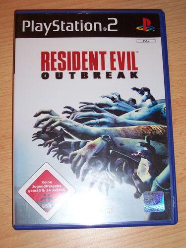 PlayStation 2 PS2 Spiel - Resident Evil - Outbreak 1  USK 18 komplett ohne Anleitung gebr.