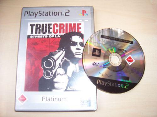 PlayStation 2 PS2 Spiel - True Crime 1 - Streets of LA  Platinum  USK 18 komplett + Anleitung gebr.