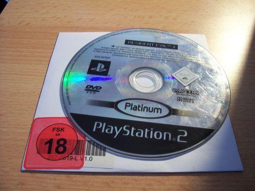 PlayStation 2 PS2 Spiel - Resident Evil 4  Platinum  USK 18  nur CD  gebr.