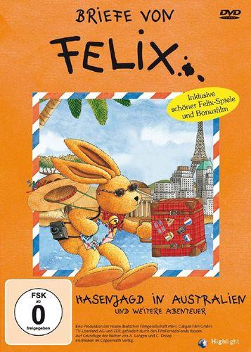 DVD Briefe von Felix - Hasenjagd in Australien und 4 weitere Abenteuer  FSK 0  NEU & OVP