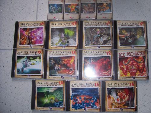 Die PSI-Akten Hörspiel 16x CD 1 - 16 CDs davon 4 MCs MC Sammlung komplett  gebr.