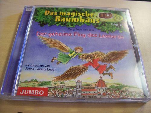 Das magische Baumhaus Hörbuch CD Folge 36 Der geheime Flug des Leonardo  von Mary Pope Osborne gebr.