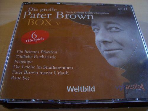 Die große Pater Brown Hörspiele CD Box 5 V - mit 6 CDs Folge 25 + 26 + 27 + 28 + 29 + 30 05/6er gebr
