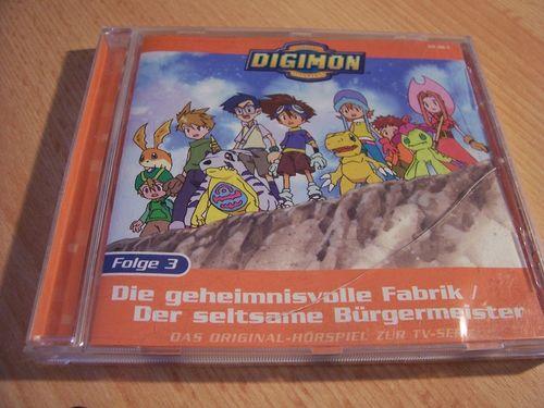 Digimon Hörspiel CD 003 3 Die geheimnisvolle Fabrik  TV-Serie  Universal  gebr.