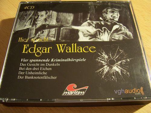 Edgar Wallace Hörspiel CD Edition 1 Box 4 CDs Gesicht 3 Eichen Unheimliche Banknoten  Maritim gebr.
