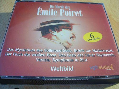 Die Morde des Émile Poiret Hörspiel CD 1 2 3 4 5 6  Box mit 6 CDs  Maritim Weltbild  gebr.