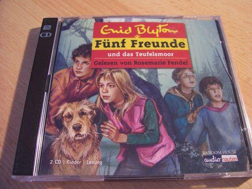 Fünf Freunde Hörbuch CD und das Teufelsmoor von Enid Blyton gelesen Rosemarie Fendel 2 CDs  gebr.