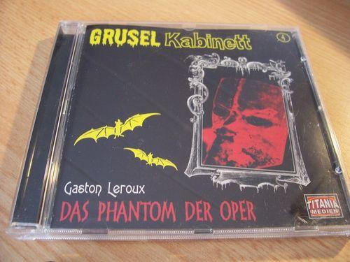 Gruselkabinett Hörspiel CD 004 4 Das Phantom der Oper Gaston Leroux  Titania Medien alt  gebr.
