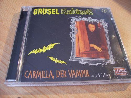 Gruselkabinett Hörspiel CD 001 1 Carmilla, der Vampir J.S. LeFanu  Titania Medien alt  gebr.