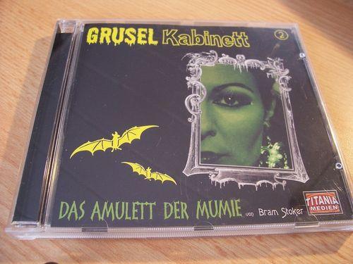 Gruselkabinett Hörspiel CD 002 2 Das Amulett der Mumie Bram Stokers  Titania Medien alt  gebr.
