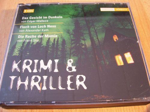 Krimi & Thriller Hörspiel CD 3er Box Gesicht im Dunkeln + Loch Ness + Rache der Mumie  Maritim gebr.