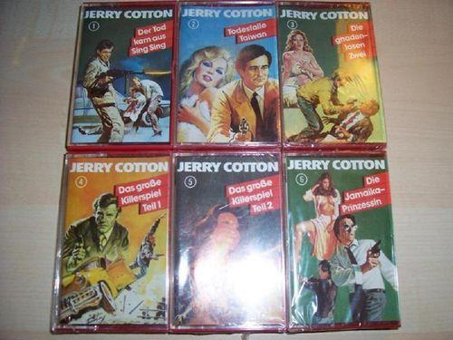 G-Man Jerry Cotton MC 1 2 3 4 5 6 x MCs komplett Sammlung TSB Tonstudio Braun  NEU & OVP