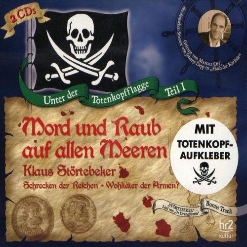 Unter der Totenkopfflagge Hörbuch CD Teil 1 Mord und Raub auf allen Meeren Klaus Störtebeker 2er NEU