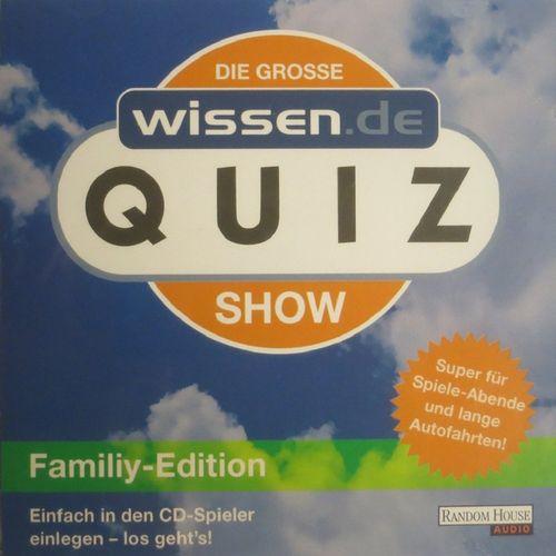 Die Grosse Wissen.de Quizshow - Family-Edition Sach Hörbuch CD  NEU & OVP