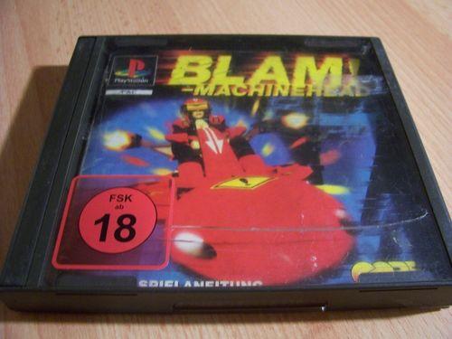 PlayStation 1 PS1 Spiel - Blam!-Machinehead  PSone PSX  USK 18  - mit Anleitung  gebr.
