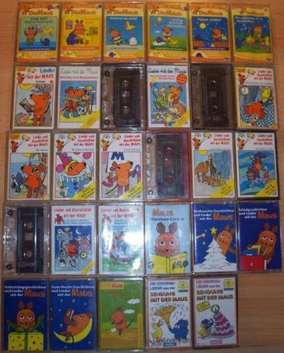 Die Sendung mit der Maus Hörspiel MC 29x MCs Lieder Geschichten Sammlung Paket  gebr.