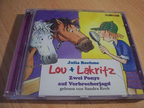 Lou Lakritz Hörbuch CD Zwei Ponys auf Verbrecherjagd von Julia Boehme 2 CDs gebr.