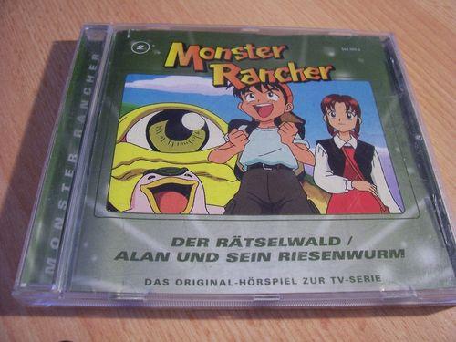Monster Rancher Hörspiel CD 002 2 Der Rätselwald + Alan und sein Riesenwurm  TV-Serie  gebr.