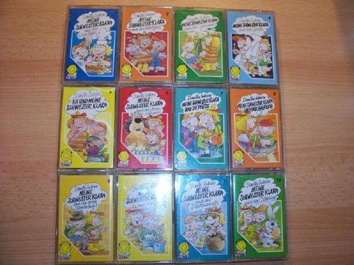 Meine Schwester Klara Hörspiel MC 1 - 12 x MCs Schneider Ton  komplett Sammlung  gebr.