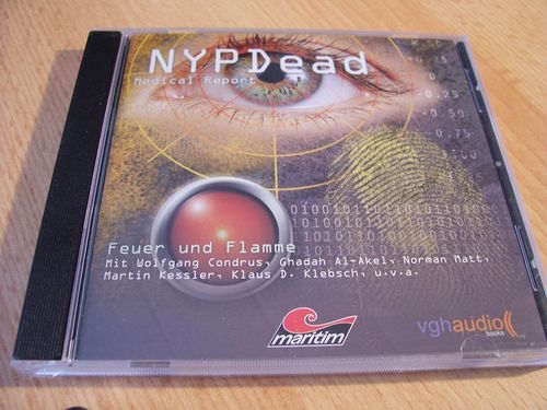 NYP Dead - Medical Report Hörspiel CD 001 1 Feuer und Flamme  Maritim  gebr.