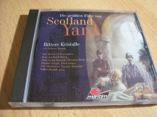 Die größten Fälle von Scotland Yard Hörspiel CD 001 1 Bittere Kristalle  Maritim 2006  gebr.