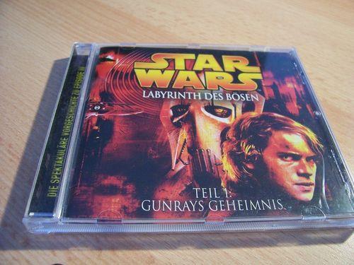 Star Wars Krieg der Sterne Labyrinth des Bösen Hörspiel CD Teil 1 I Gunrays Geheimnis  gebr.