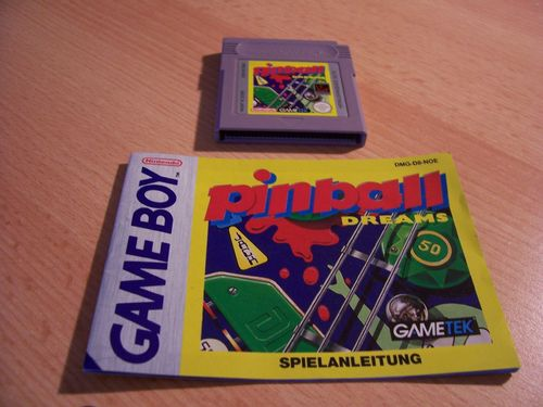Nintendo Game Boy Pinball Dreams - für GB Color + GBA  DMG-D8-NOE PAL  Modul + Anleitung  gebr.