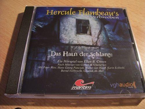 Hercule Flambeau's Verbrechen Hörspiel CD 003 3 Das Haus der Schlange  Maritim  gebr.
