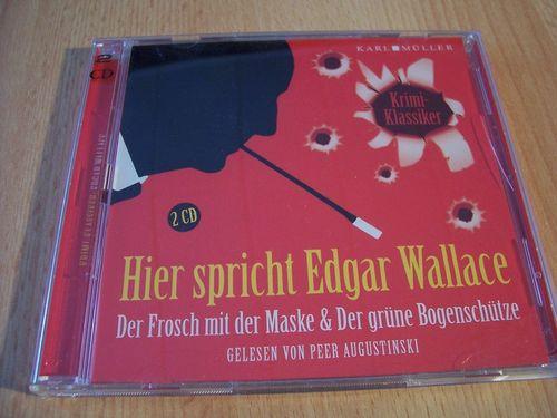 Hier spricht Edgar Wallace Hörbuch CD Der Frosch mit der Maske + Bogenschütze von Karl Müller gebr.