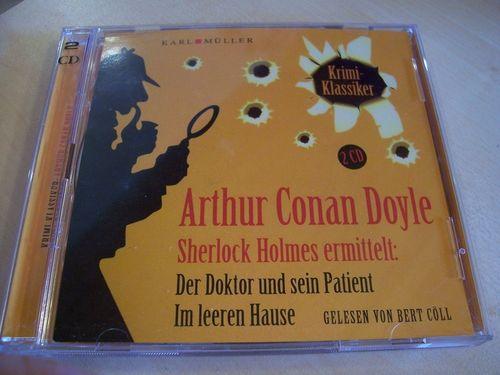 Sherlock Holmes ermittelt Hörbuch CD Der Doktor und sein Patient + Im leeren Haus  Karl Müller  gebr