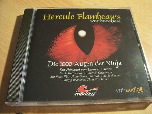 Hercule Flambeau's Verbrechen Hörspiel CD 004 4 Die 1000 Augen der Ninja  Maritim  gebr.