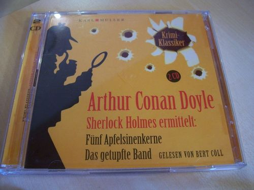 Sherlock Holmes ermittelt Hörbuch CD Fünf Apfelsinenkerne + Das getupfte Band  Karl Müller  gebr