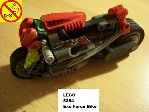 LEGO ® Technic Racers Set 8354 - Exo Force Bike  mit Pull-Back-Motor  gebr.