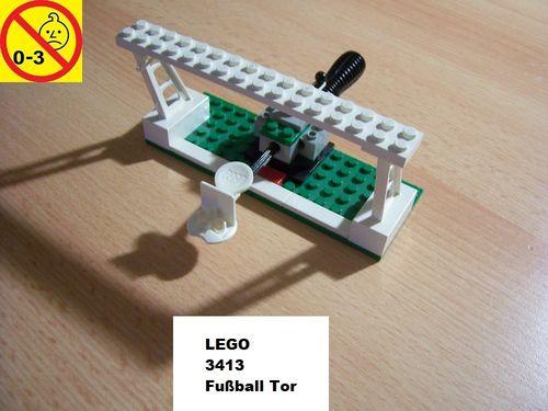 LEGO ® System Set 3413 - Fussball-Tor mit Torwart  ohne Männchen + Ball  gebr.