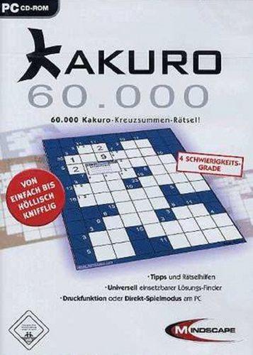 PC CD-Rom Spiel - Kakuro 60.000 Kreuzsummen-Rätsel  Windows 2000 + XP  USK 0  NEU & OVP
