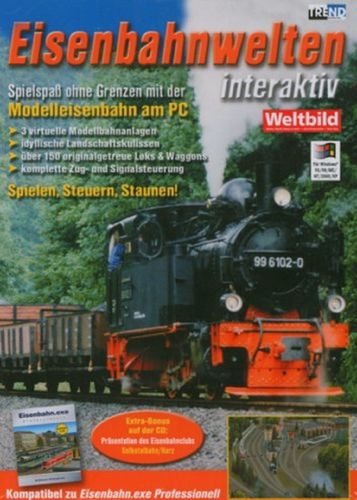 PC CD-Rom Spiel - Eisenbahnwelten interaktiv  Modelleisenbahn am PC  Windows 2000 + XP  USK 0  NEU