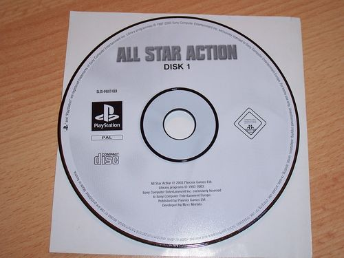 PlayStation 1 PS1 Spiel - All Star Action Disk 1  PSone USK 0  - nur CD  gebr.