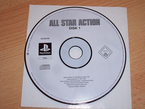 PlayStation 1 PS1 Spiel - All Star Action Disk 1  PSone USK 0  - nur CD  gebr.