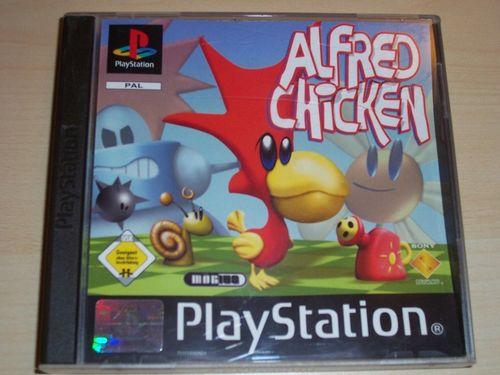PlayStation 1 PS1 Spiel - Alfred Chicken  PSone PSX  USK 0  - komplett ohne Anleitung  gebr.