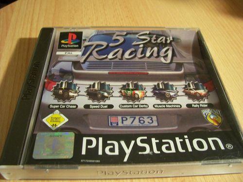 PlayStation 1 PS1 Spiel - 5 Star Racing  PSone PSX  USK 0  - komplett mit Anleitung  gebr.