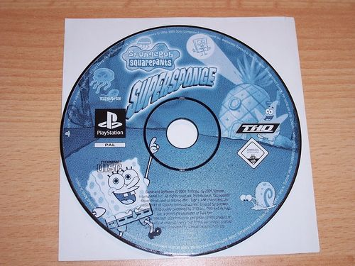 PlayStation 1 PS1 Spiel - SpongeBob Suqarepants - Supersponge  PSone USK 0  - nur CD  gebr.