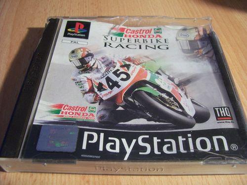 PlayStation 1 PS1 Spiel - Castrol Honda Superbike Racing  PSone PSX USK 0 komplett + Anleitung gebr.