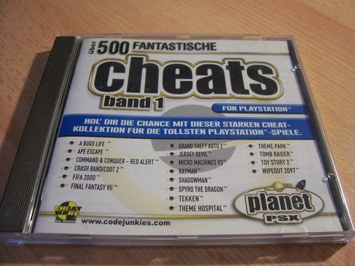 PlayStation 1 PS1 Spiel - Planet PSX Cheats Band 1  PSone PSX USK 0 - komplett gebr.
