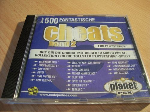 PlayStation 1 PS1 Spiel - Planet PSX Cheats Band 2  PSone PSX USK 0 - komplett gebr.