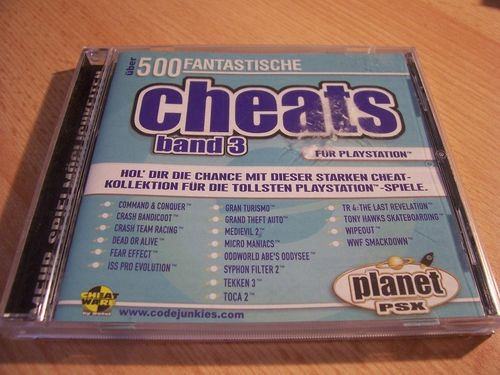 PlayStation 1 PS1 Spiel - Planet PSX Cheats Band 3  PSone PSX USK 0 - komplett gebr.