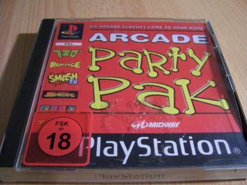 PlayStation 1 PS1 Spiel - Arcade Party Pak  PSone PSX  USK 18  - komplett mit Anleitung  gebr.